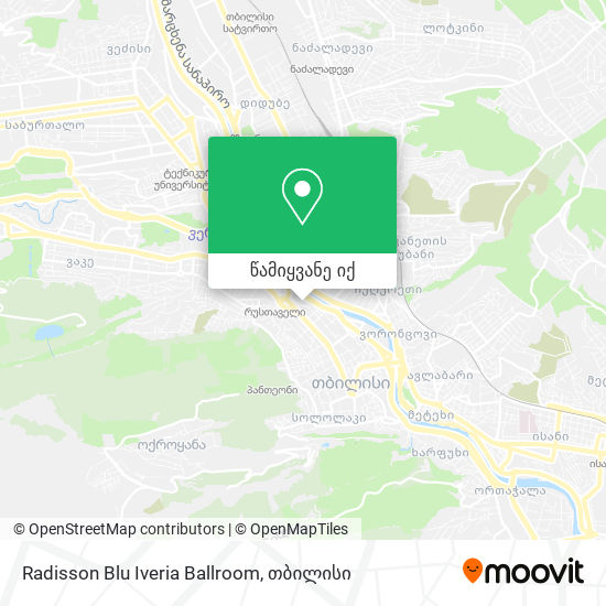 Radisson Blu Iveria Ballroom რუკა