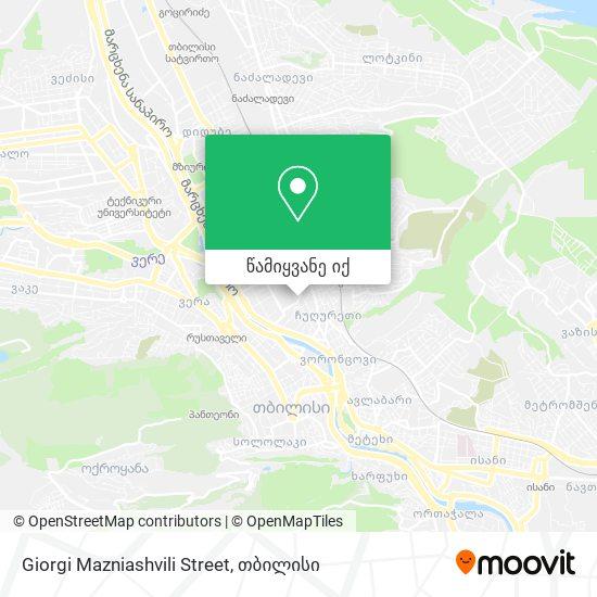 Giorgi Mazniashvili Street რუკა