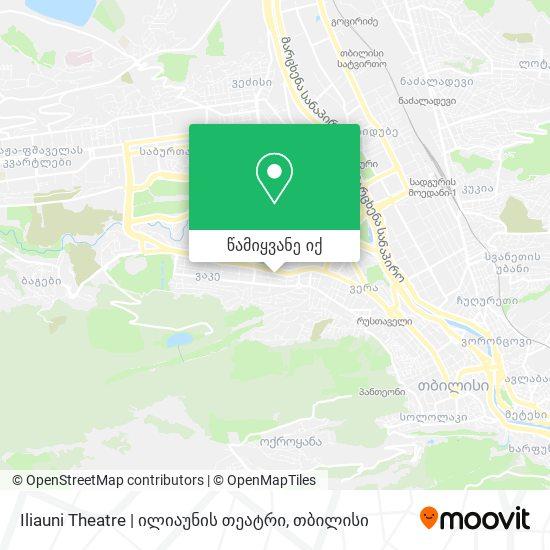 Iliauni Theatre   ილიაუნის თეატრი რუკა