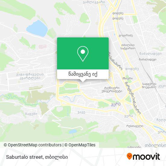 Saburtalo street რუკა