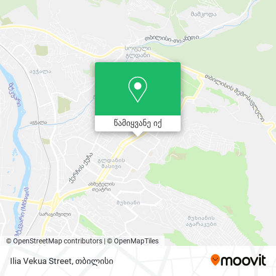 Ilia Vekua Street რუკა