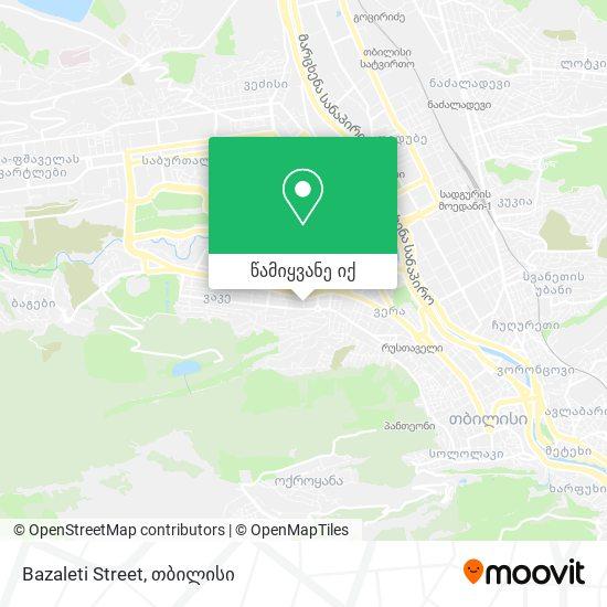 Bazaleti Street რუკა