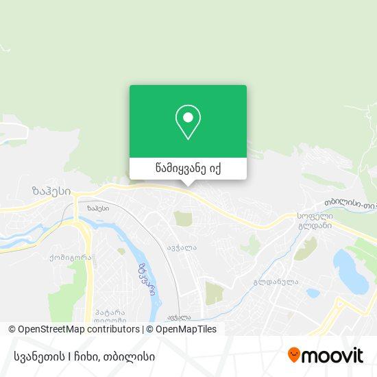 სვანეთის I ჩიხი რუკა