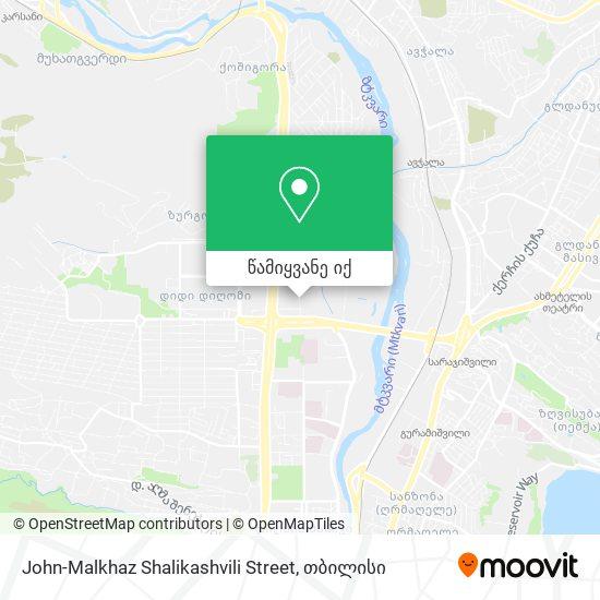 John-Malkhaz Shalikashvili Street რუკა