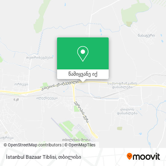 İstanbul Bazaar Tiblisi რუკა