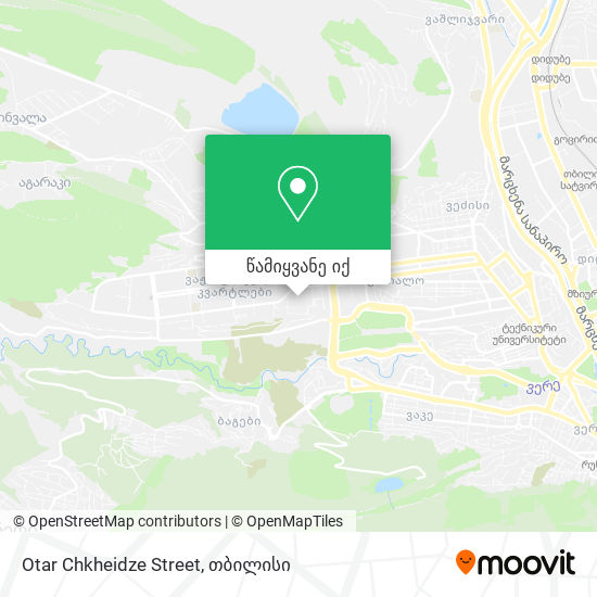 Otar Chkheidze Street რუკა