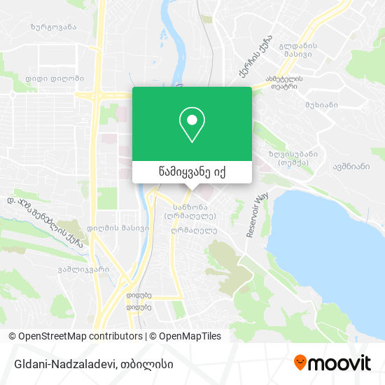 Gldani-Nadzaladevi რუკა