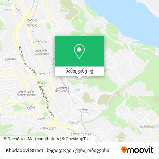 Khudadovi Street   ხუდადოვის ქუჩა რუკა