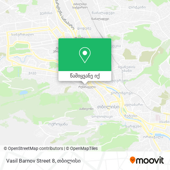 Vasil Barnov Street 8 რუკა