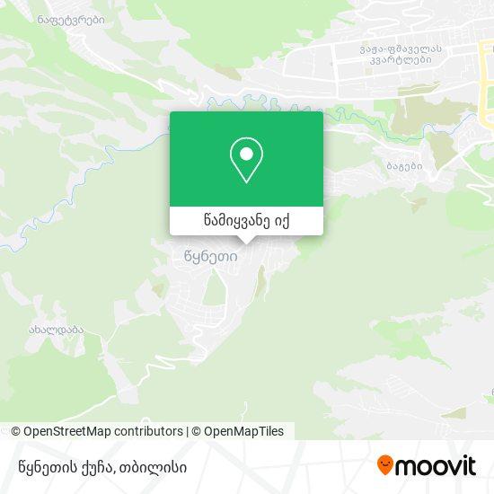 წყნეთის ქუჩა რუკა