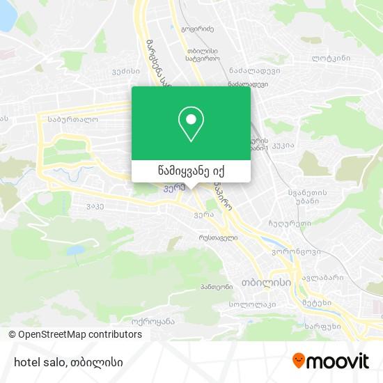 hotel salo რუკა
