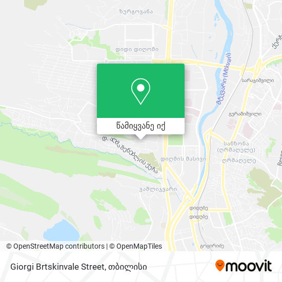 Giorgi Brtskinvale Street რუკა