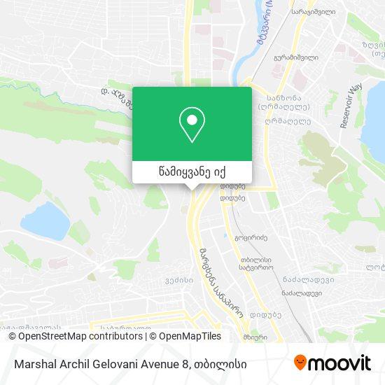 Marshal Archil Gelovani Avenue 8 რუკა