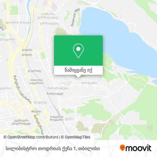 სილიბისტრო თოდრიას ქუჩა 1 რუკა