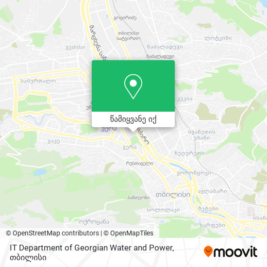 IT Department of Georgian Water and Power რუკა