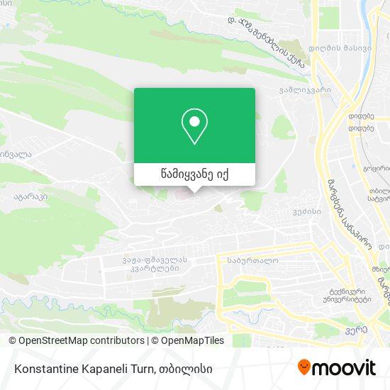 Konstantine Kapaneli Turn რუკა