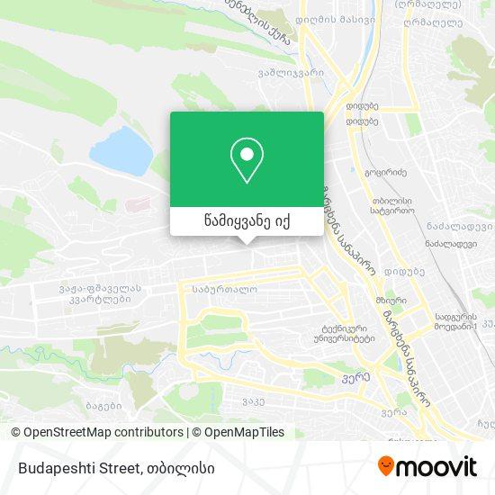 Budapeshti Street რუკა