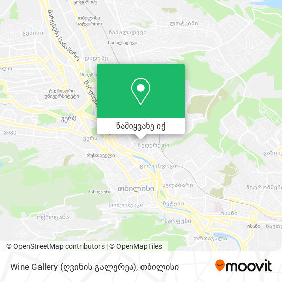 Wine Gallery (ღვინის გალერეა) რუკა