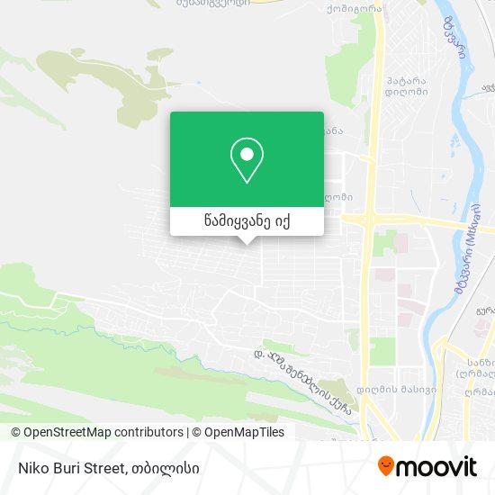 Niko Buri Street რუკა