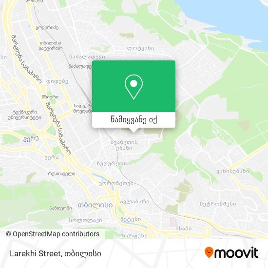 Larekhi Street რუკა