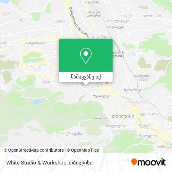 White Studio & Workshop რუკა