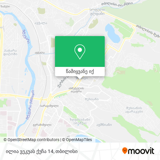 ილია ვეკუას ქუჩა 14 რუკა