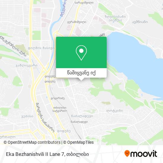 Eka Bezhanishvili II Lane 7 რუკა