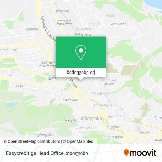 Easycredit.ge Head Office რუკა