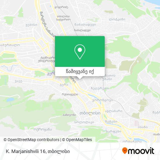 K. Marjanishvili 16 რუკა