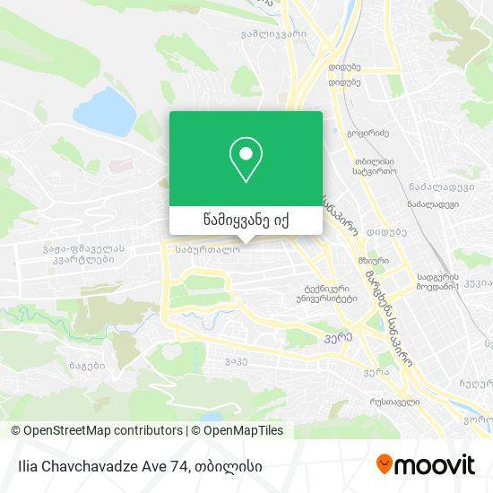 Ilia Chavchavadze Ave 74 რუკა