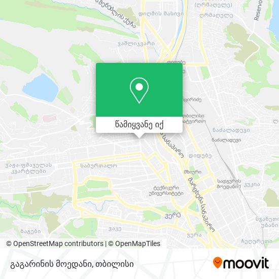 გაგარინის მოედანი რუკა