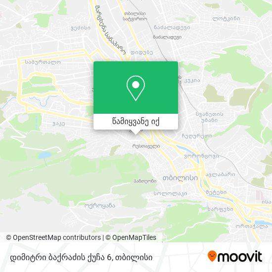 დიმიტრი ბაქრაძის ქუჩა 6 რუკა