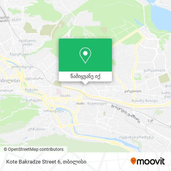 Kote Bakradze Street 6 რუკა
