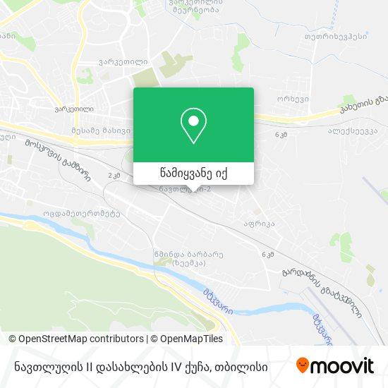 ნავთლუღის II დასახლების IV ქუჩა რუკა