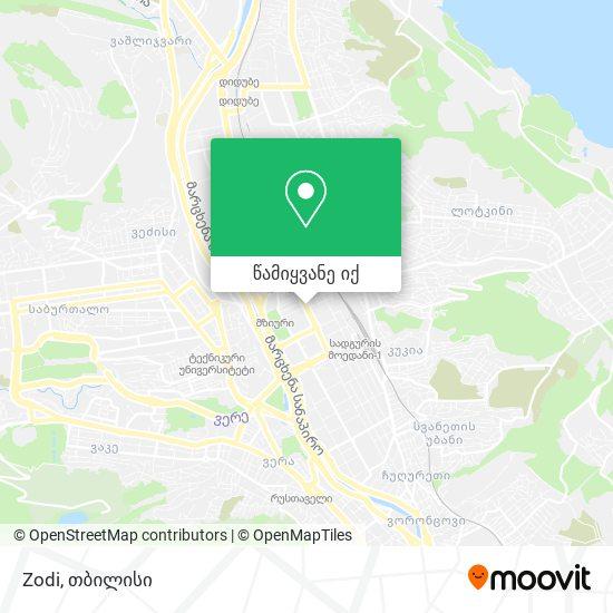 Zodi რუკა