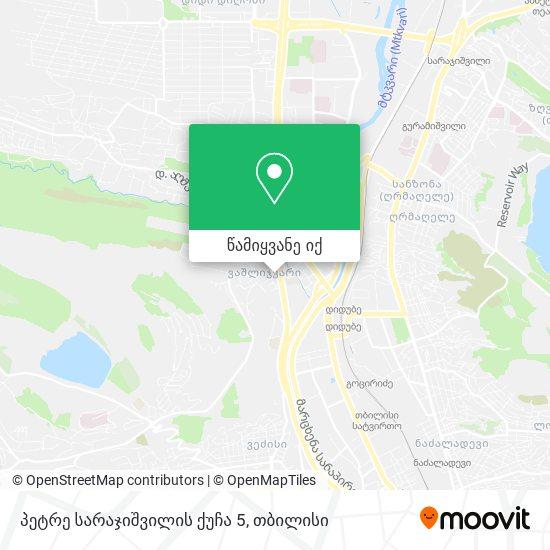 პეტრე სარაჯიშვილის ქუჩა 5 რუკა
