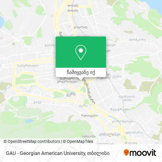 GAU - Georgian American University რუკა