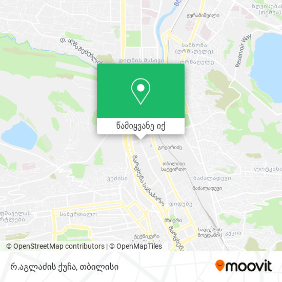 რ.აგლაძის ქუჩა რუკა