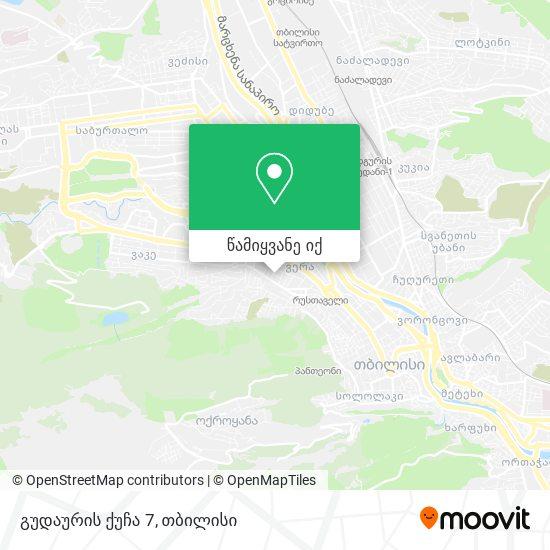 გუდაურის ქუჩა 7 რუკა