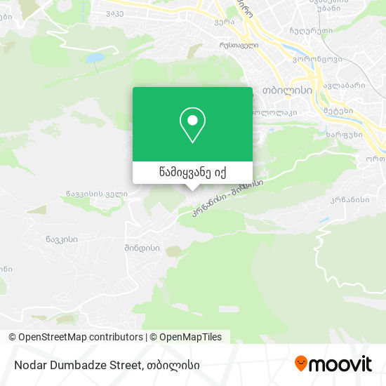 Nodar Dumbadze Street რუკა