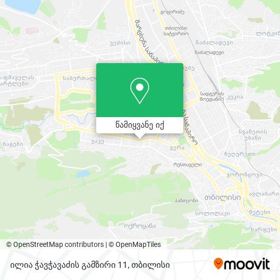 ილია ჭავჭავაძის გამზირი 11 რუკა