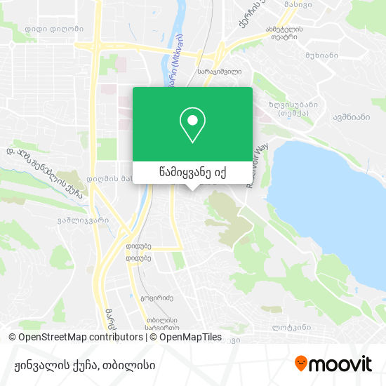 ჟინვალის ქუჩა რუკა