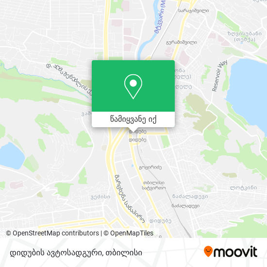 დიდუბის ავტოსადგური რუკა