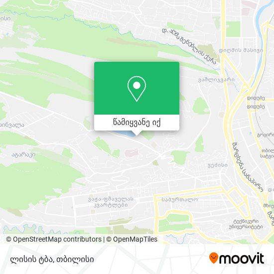ლისის ტბა რუკა