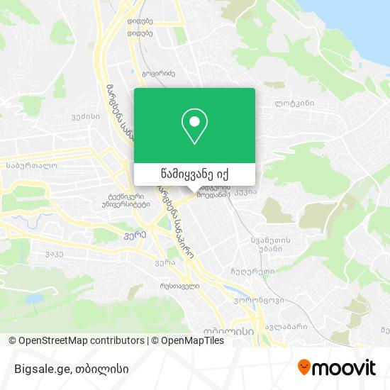 Bigsale.ge რუკა