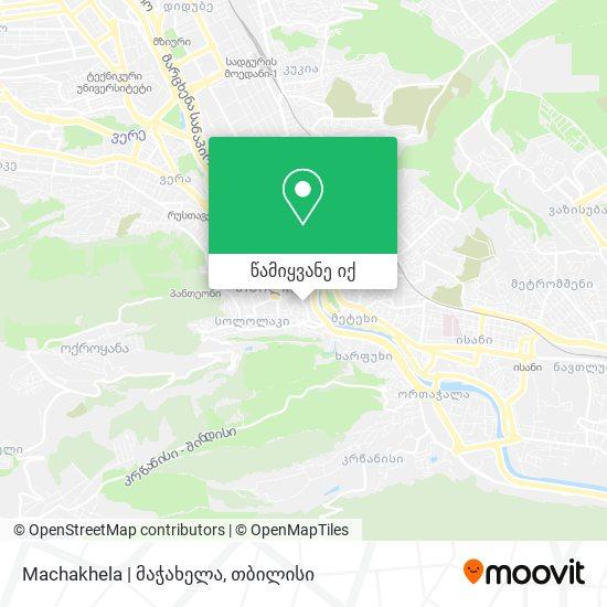 Machakhela   მაჭახელა რუკა