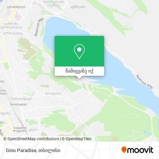 Gino Paradise რუკა