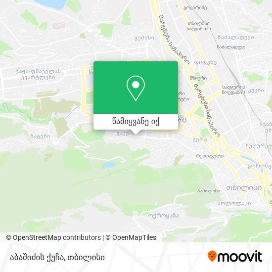 აბაშიძის ქუჩა რუკა