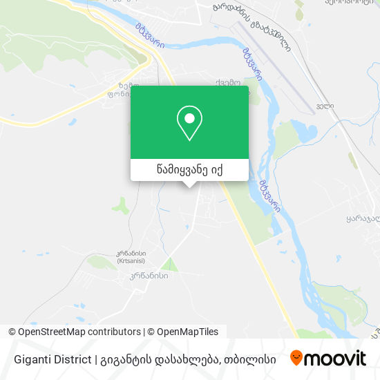 Giganti District | გიგანტის დასახლება რუკა