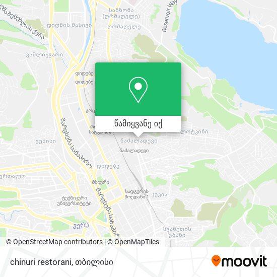 chinuri restorani რუკა